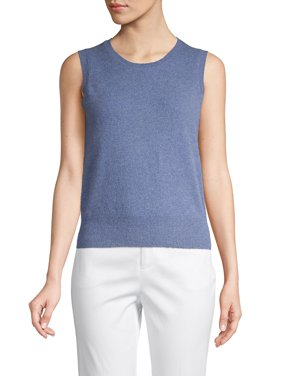Petite Sleeveless Cashmere Top