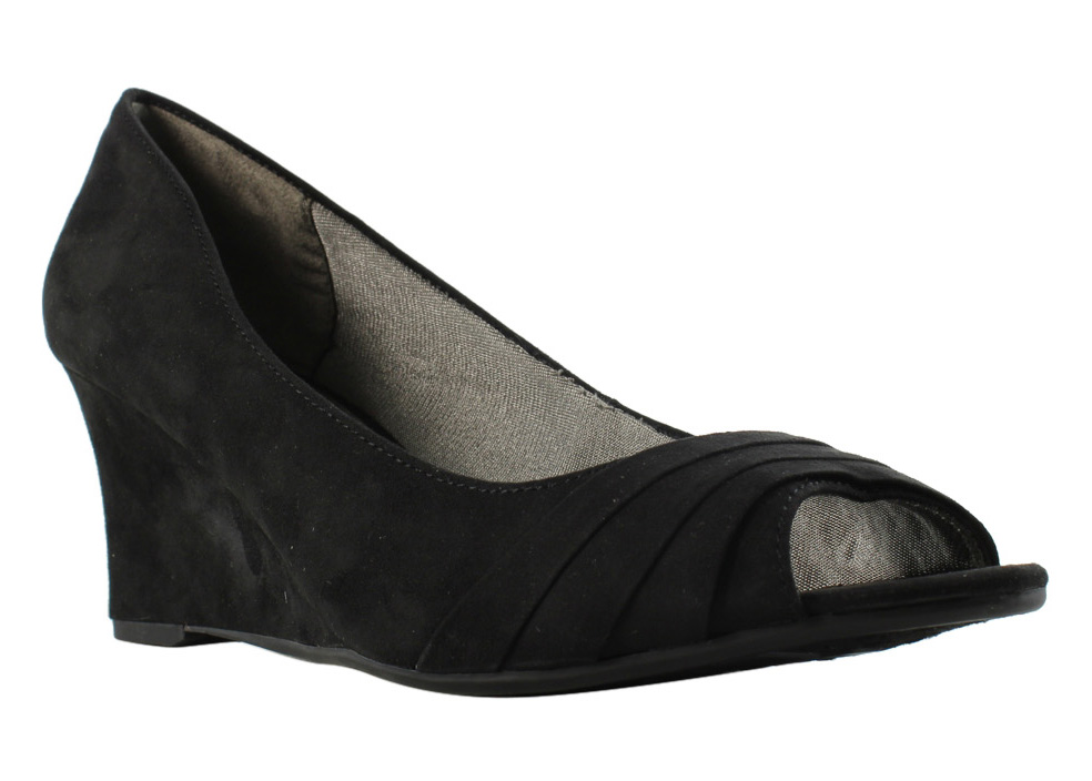 Lifestride Womens B2651F1 Black Open Toe Heels Size 8 New by LifeStride