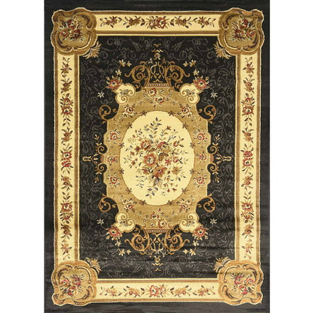 Home Dynamix Royalty Collection Scatter Area Rug Black