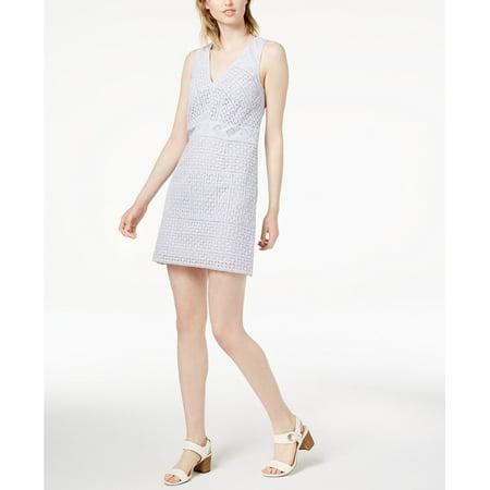 French Connection   - Schiffley Cotton Lace Sheath Dress - Regular - (Cotton Sheath)