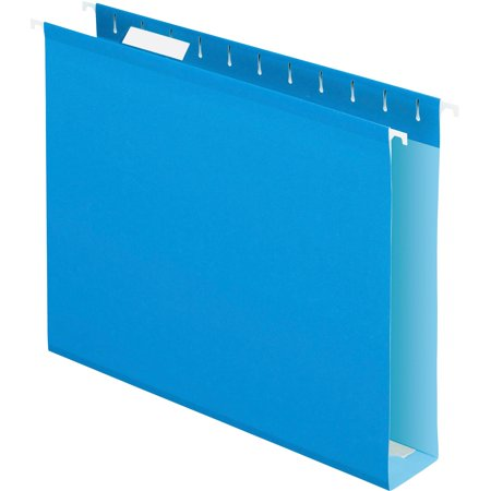 Colored Box Bottom (Pendaflex, PFX4152X2BLU, Box Bottom Colored Hanging Folders, 25 / Box, Blue)