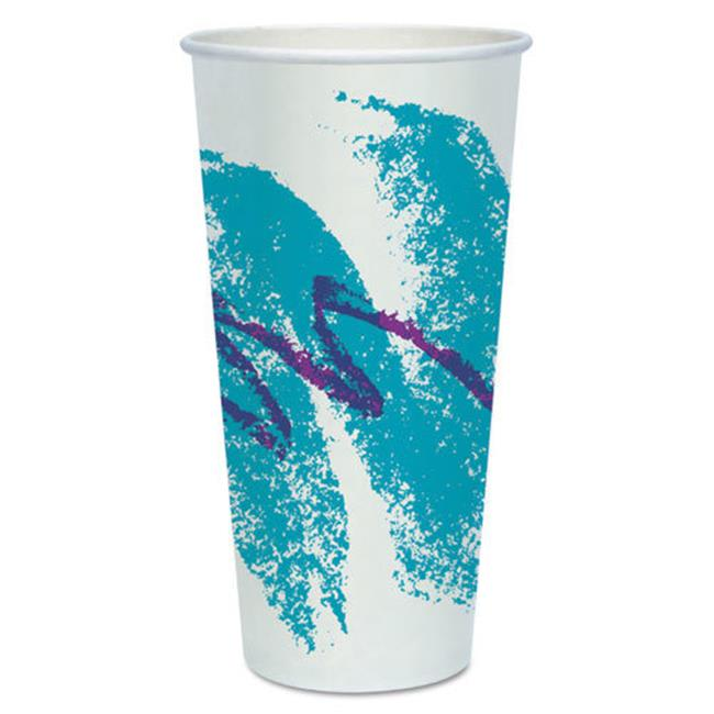 Solo Cups RP24PJ Double Sided Poly Paper Cold Cups, 24oz, Jazz Design, 50/Pack, 20 Packs/Carton