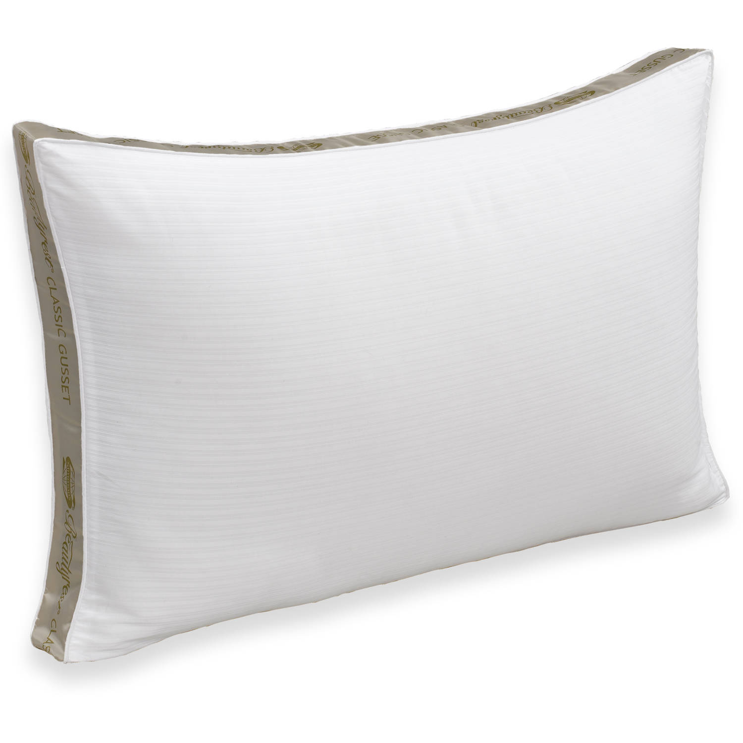 Ultrasoft Quilted Sidewall Bed Pillows Extra Firm Set of 2