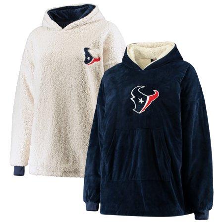 Houston Texans Reversible Sherpa Hoodeez - Navy/White - OSFA Sherpa Reversible Jacket