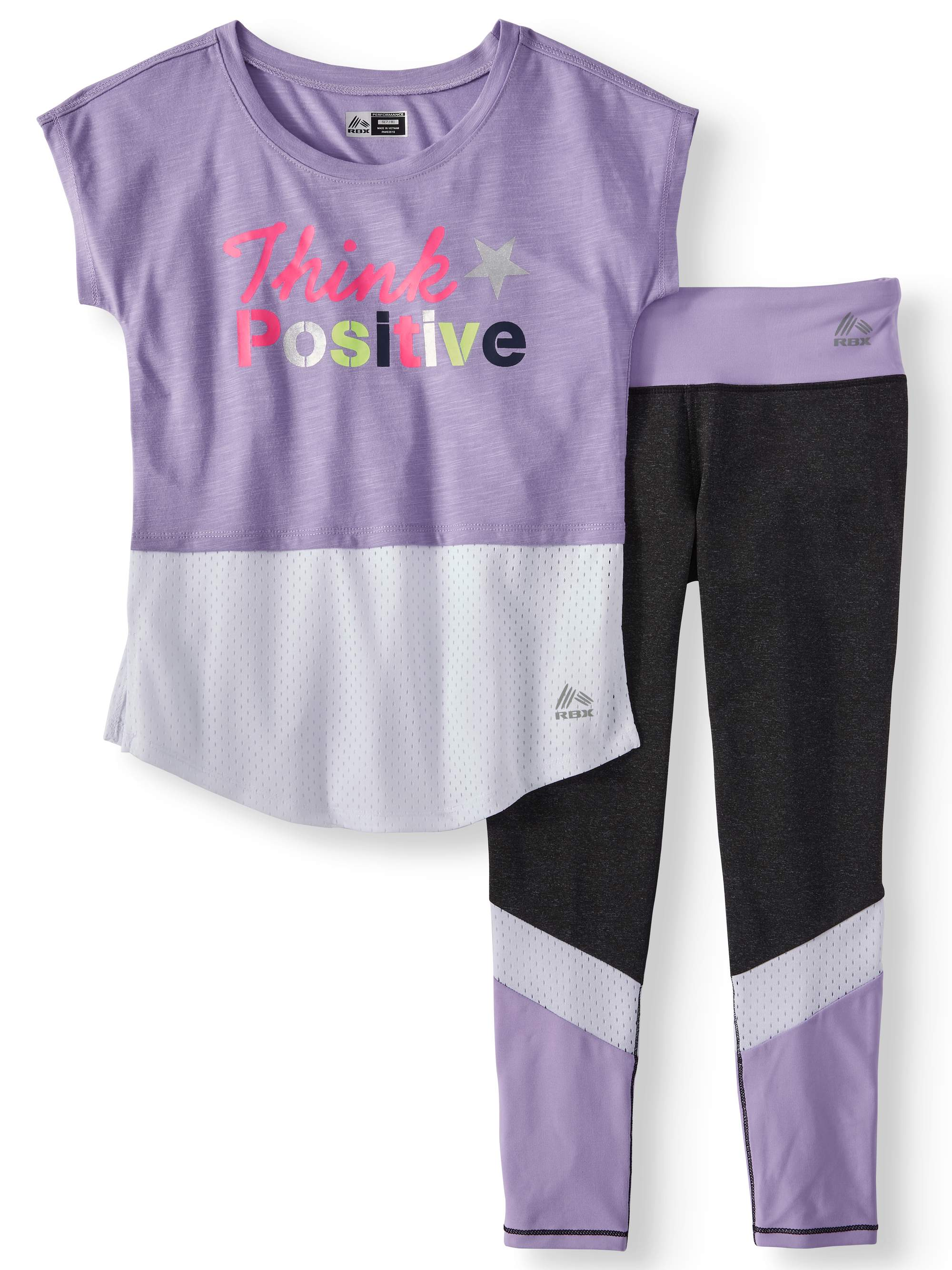 Performance 2Fer Graphic Top & Legging, 2-Piece Set (Little and Big Girls