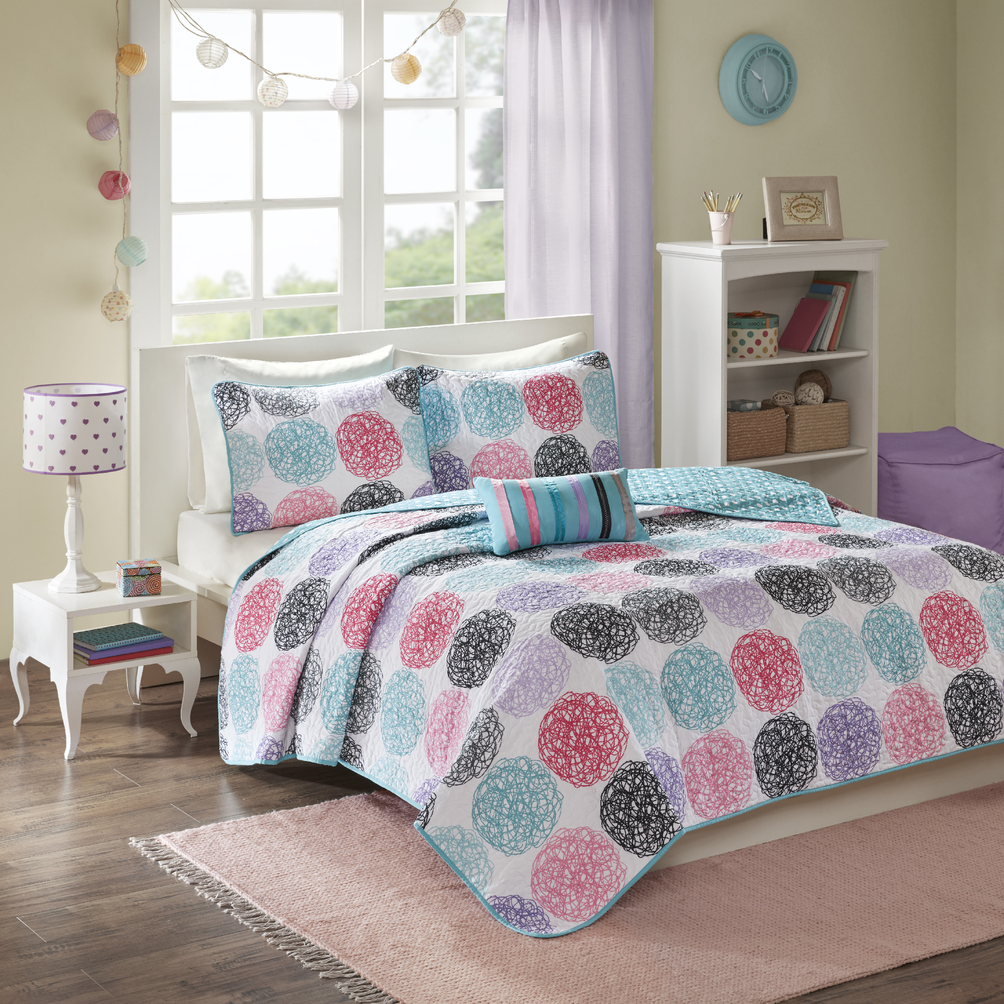 Home Essence Teen Brittany Quilted Coverlet Bedding Set