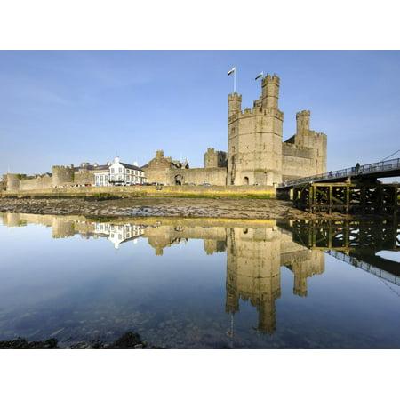 Caernarfon Castle, UNESCO World Heritage Site, and City Walls, Caernarfon, Gwynedd, North Wales, UK Print Wall Art By Chris Hepburn ()