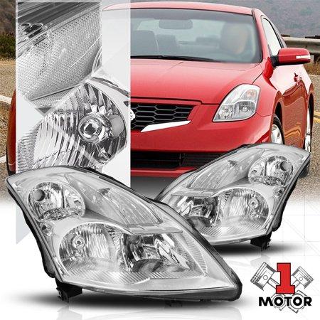 Chrome Housing Headlight Clear Turn Signal Reflector for 07-09 Nissan Altima 08