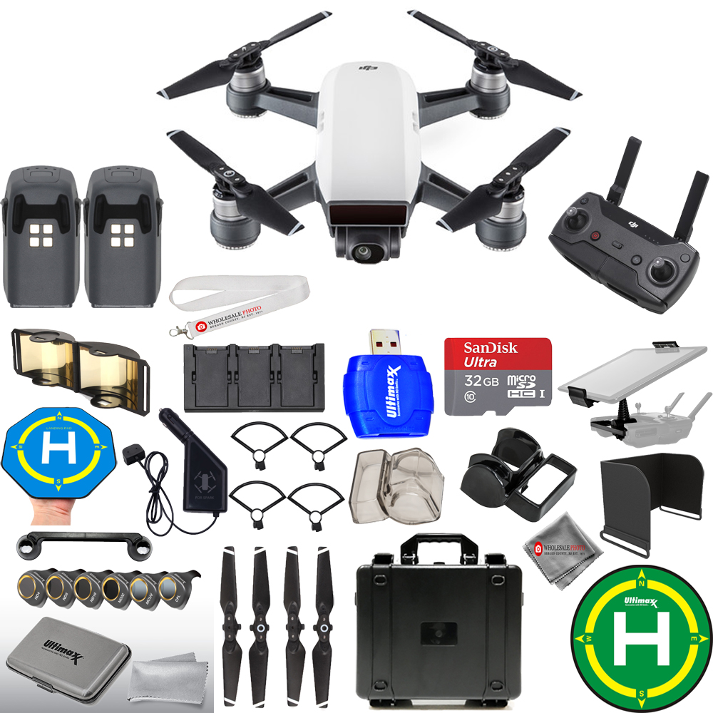 UNASSIGNED DJI Spark Fly More Combo MEGA BUNDLE WITH WATE...
