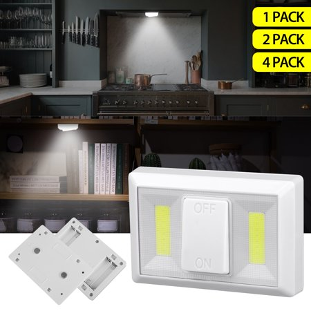 Super Bright Stick Anywhere Switch COB LED Light/ Tap Light/Under Cabinet, Shelf, Shed, Kitchen, Garage, Attic, RV, Car under the (Bright Light Switch On Floor Of Car)