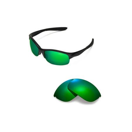Walleva Emerald Polarized Replacement Lenses for Oakley Commit SQ (Emerald Sunglasses)
