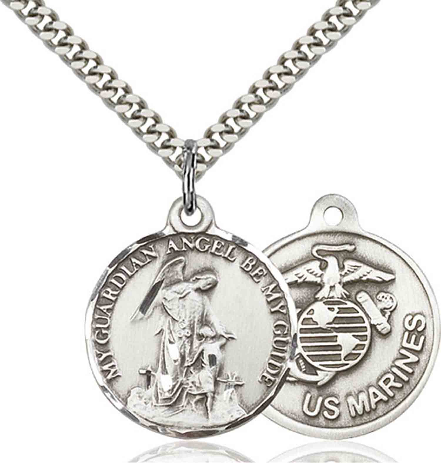 Bliss Solid.925 Sterling Silver Guardain Angel/Marines US...