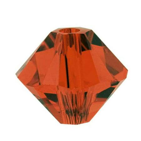 Swarovski Crystal, #5328 Bicone Beads 3mm, 25 Pieces, Red