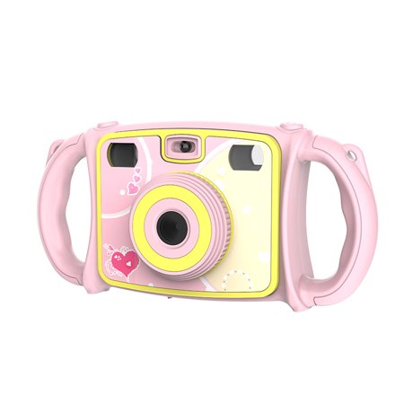 Kids Camera for girls or boys - anti-drop kid digital camera with Soft Silicone Shell and 5 Mega pixel Dual lens 2.0 inch HD screen, great gift for 4-10 Year Old Girls (32G TF card not