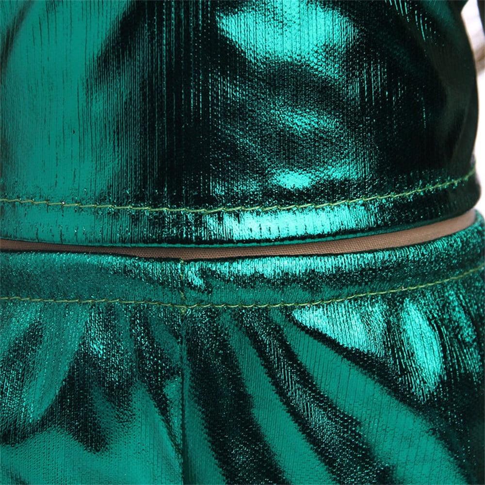 DZT1968 Shining Rainbow Glitter Summer Dress Outfits For 18 inch American Girl Doll