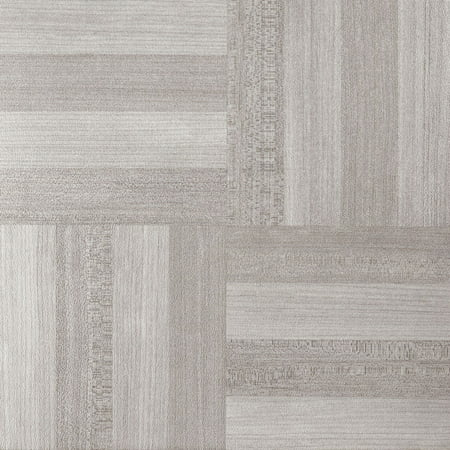 Achim Nexus Ash Grey Wood 12x12 Self Adhesive Vinyl Floor