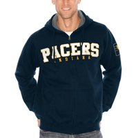 Indiana Pacers Big & Tall Sherpa Hooded Jacket - Navy Blue