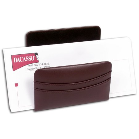 Chocolate Brown Leather Letter Holder