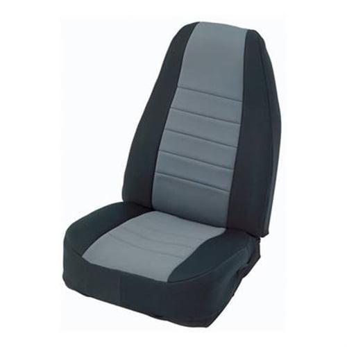 Smittybilt Black/Charcoal Front Center Neoprene Seat Cover 47022