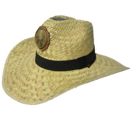 bcfcfd833 Kool Breeze Solar Cooling Straw Hat - Gentleman (Natural) Hat w. Wide Band  - (L)