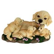 Alpine Dog with Puppies Statue
