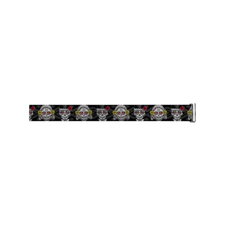 Mexican Day of the Dead Sugar Skull Man & Wife Cinch Waist Belts (Skull Belt)