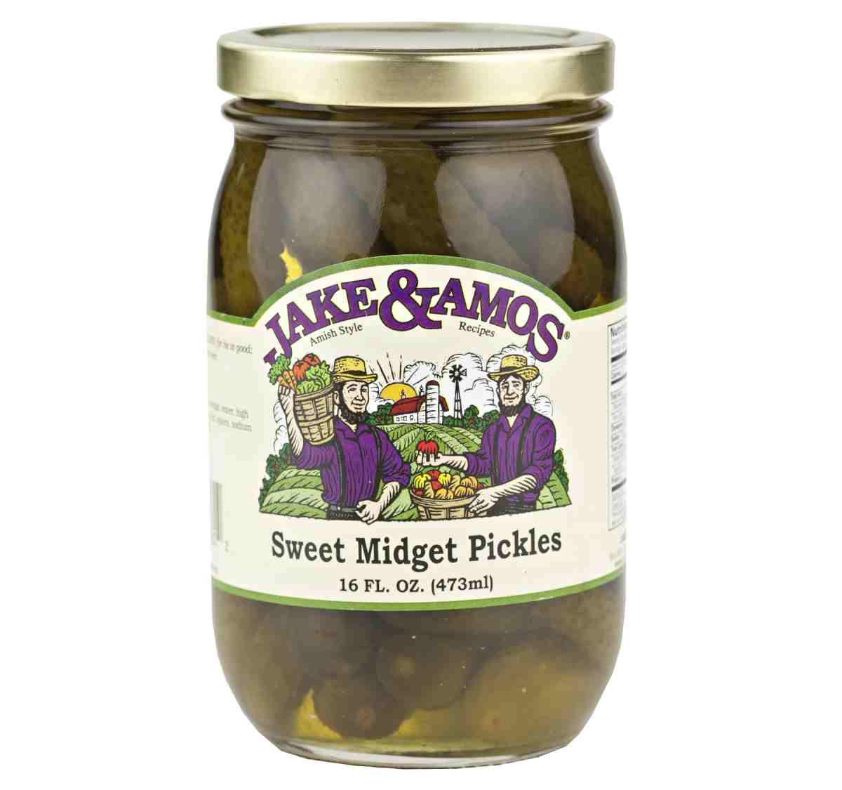 Jake & Amos Sweet Midget Pickles 16 oz. (3 Jars)