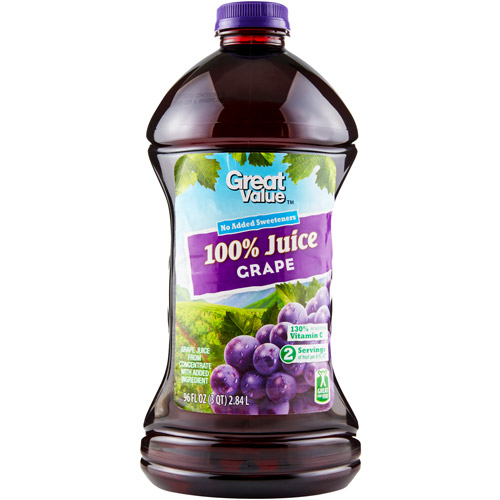Great Value 100% Grape Juice, 96 fl oz