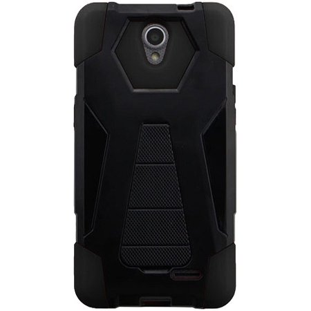 info for 6d19e 5b7fc Phone Case for AT&T PREPAID ZTE Maven 3, ZTE Prelude-Plus Case Hybrid Cover  Case with Kickstand (Black)