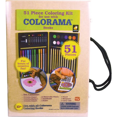 Colorama 51 piece coloring kit Coloring book walmart