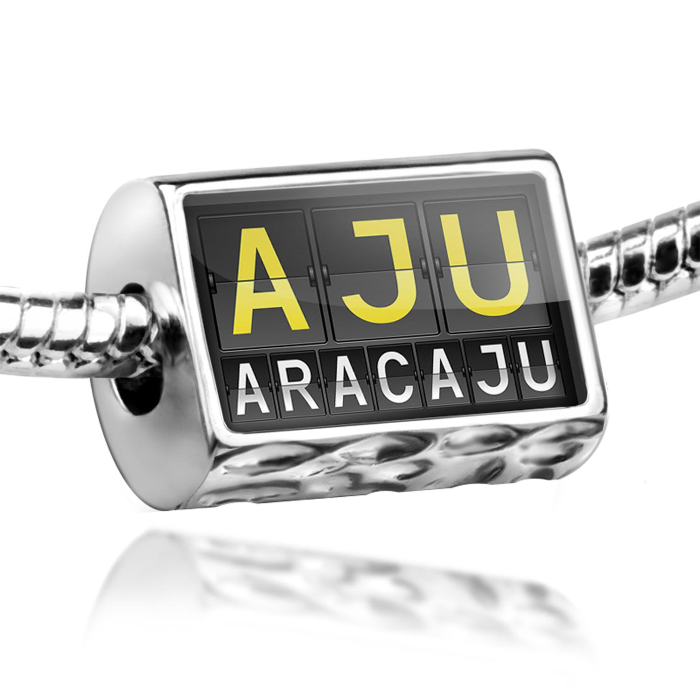Bead AJU Airport Code for Aracaju Charm Fits All European Bracelets