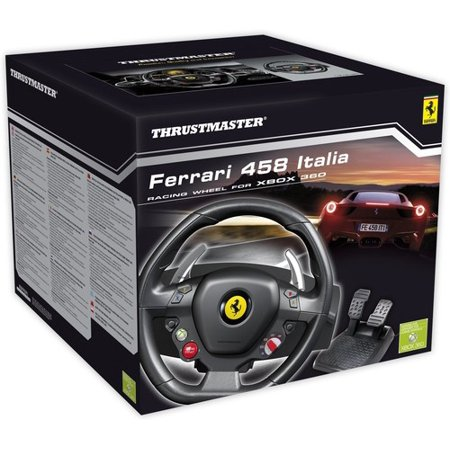 Thrustmaster, Ferrari 458 Racing Wheel, Xbox 360, Black, 4460094