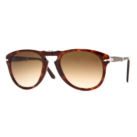 Persol PO0714 24/51 Havana Sunglasses with Brown Faded Lenses 52mm 714 24/51 (Persol 714 Glasses)