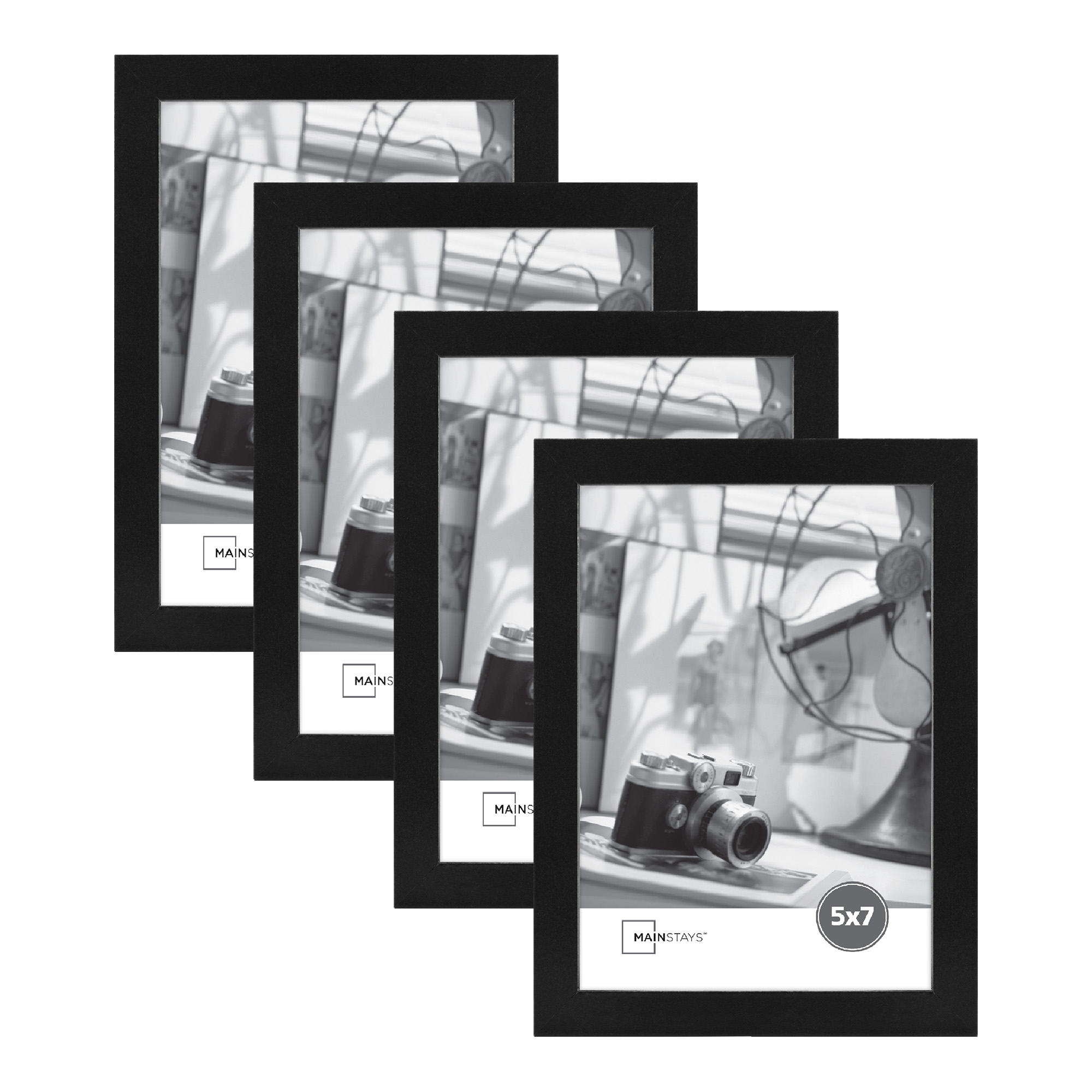 """Mainstays 5"""" x 7"""" Thin Gallery Frame Set of Four"""