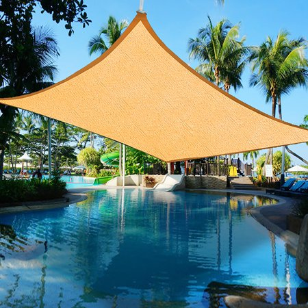- Yescom 16 x 12 Ft Rectangle Sun Shade Sail UV Top Outdoor Canopy Patio Lawn