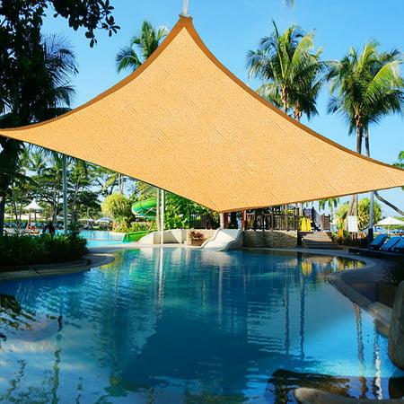 Yescom 16'x12' Rectangle Sun Shade Sail UV Blocking Top Canopy