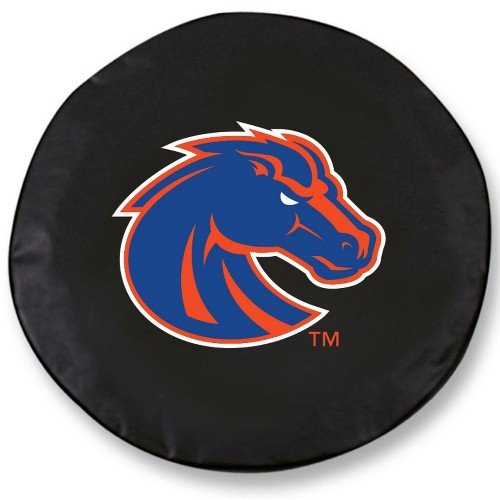 NCAA Tire Cover by Holland Bar Stool - Boise State, Black - 29 L x 8 D