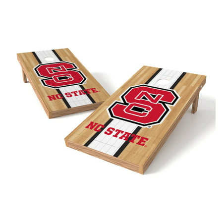 TTXL Shield Hardwood College NC State Wolfpack Bean Bag Toss Game Nc State Wolfpack Game Table