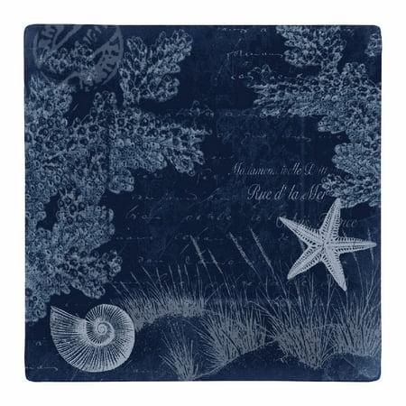 """Merritt International Seaside Postcard 11"""" Square Plate"""