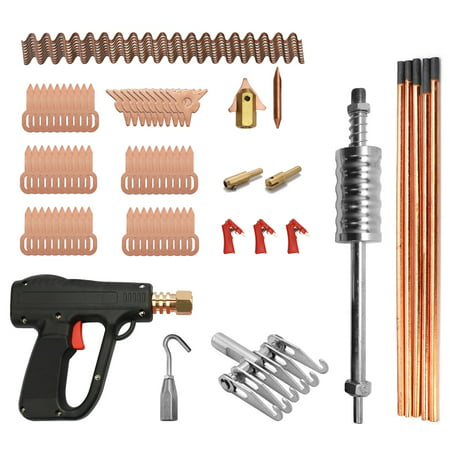 86pcs Dent Puller Kit Car Body Repairing Tools Spot Welding Electrodes Spotter Welder Machine Removing Straightenging Dents Remover Device (Wall Puller Tool)