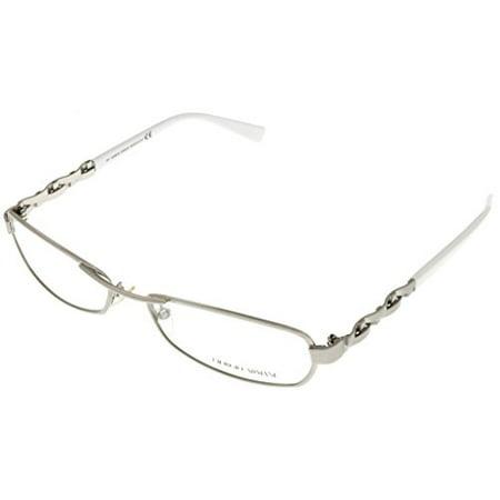e1e6f61c4fe Giorgio Armani Prescription Eyeglasses Frames Womens GA 591 VTB Satin  Palladium White Rectangular Size  Lens  Bridge  Temple  135 - Walmart.com