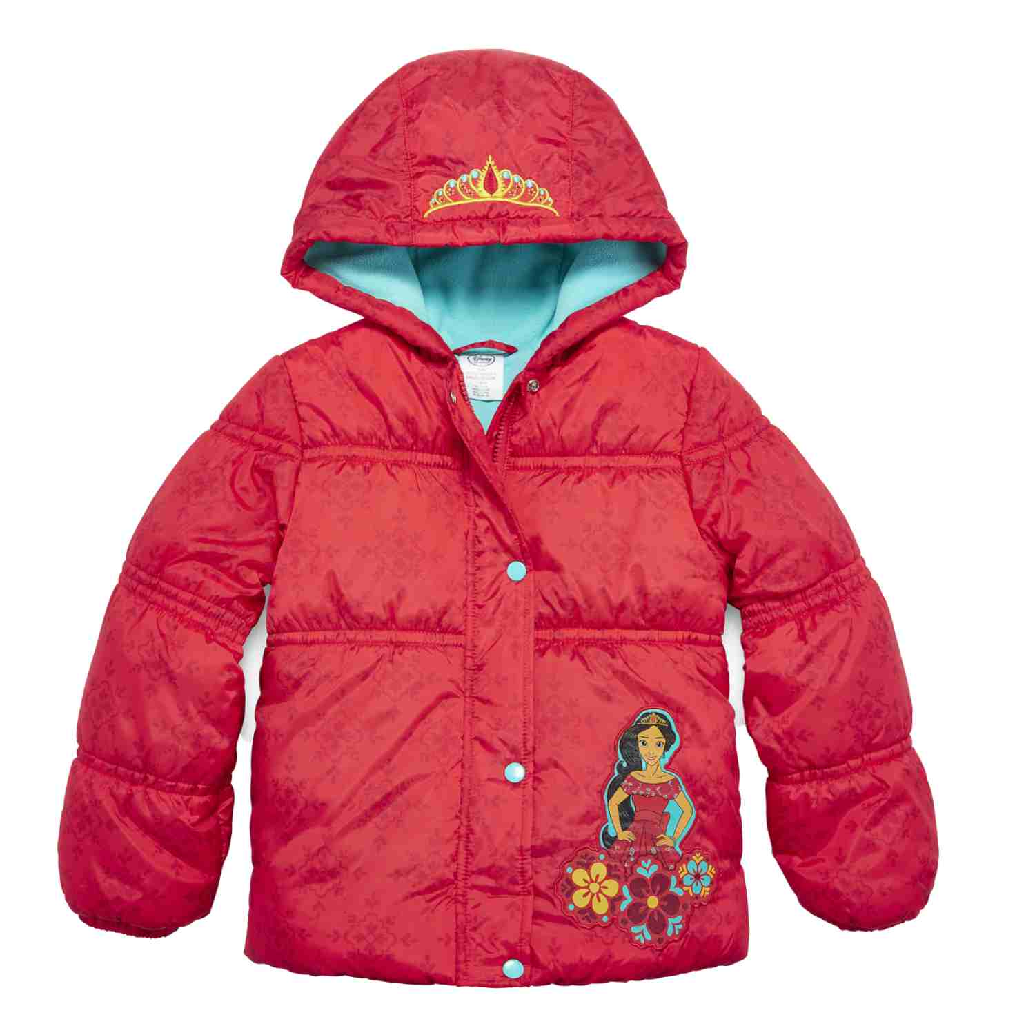 Disney Princess Toddler Girls Elena of Avalor Red Puffer Jacket Winter Coat