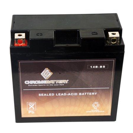 Yt14b bs motorcycle battery for yamaha 1700cc xv1700p road for Yamaha motorcycle batteries
