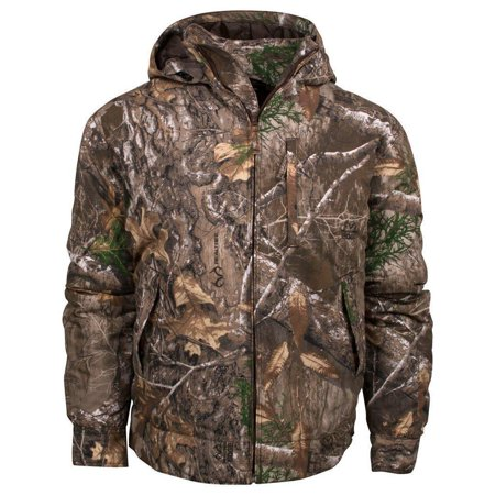 (King's Camo Realtree Edge Classic Cotton Insulated Hooded Ripstop Jacket)
