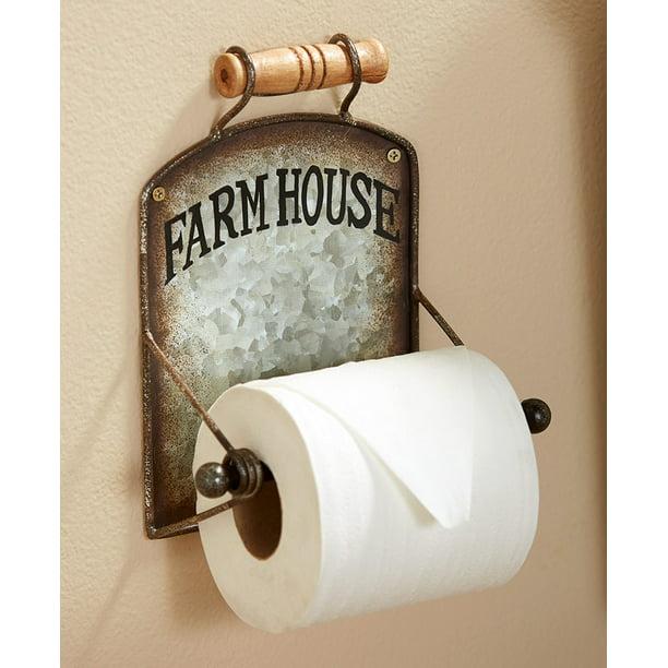 Farmhouse Toilet Paper Holder Wall