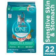 Purina ONE Sensitive Stomach, Sensitive Skin, Natural Dry Cat Food, Sensitive Skin & Stomach Formula, 3.5 lb. Bag