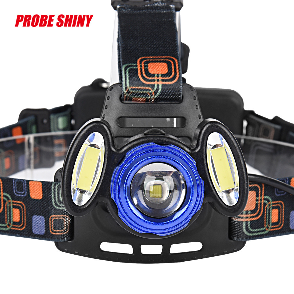 15000Lm 3x XML T6 LED Headlamp Rechargeable Headlight 18650 Head Torch Light