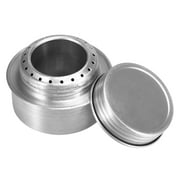 Portable Mini Aluminum Alloy Alcoho with Lid Outdoor Camping Hiking Backpacking Cooking