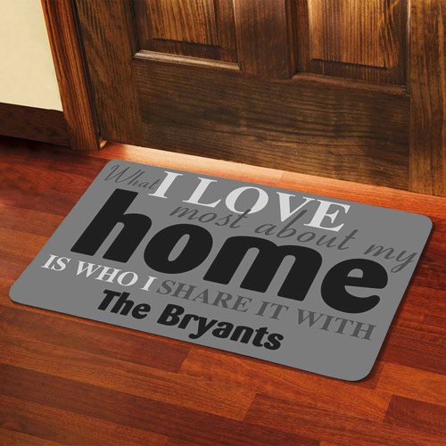 "Personalized What I Love Most Doormat, 24"" x 36"""