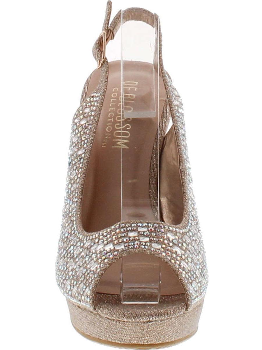 2f7b98198f3c De Blossom - De Blossom Collection Womens Alina-66 Dressy Wedge Platform  Wedge Sandals - Walmart.com